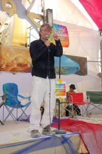 Marc Gafni at Burning Man Camp Mystic 2014
